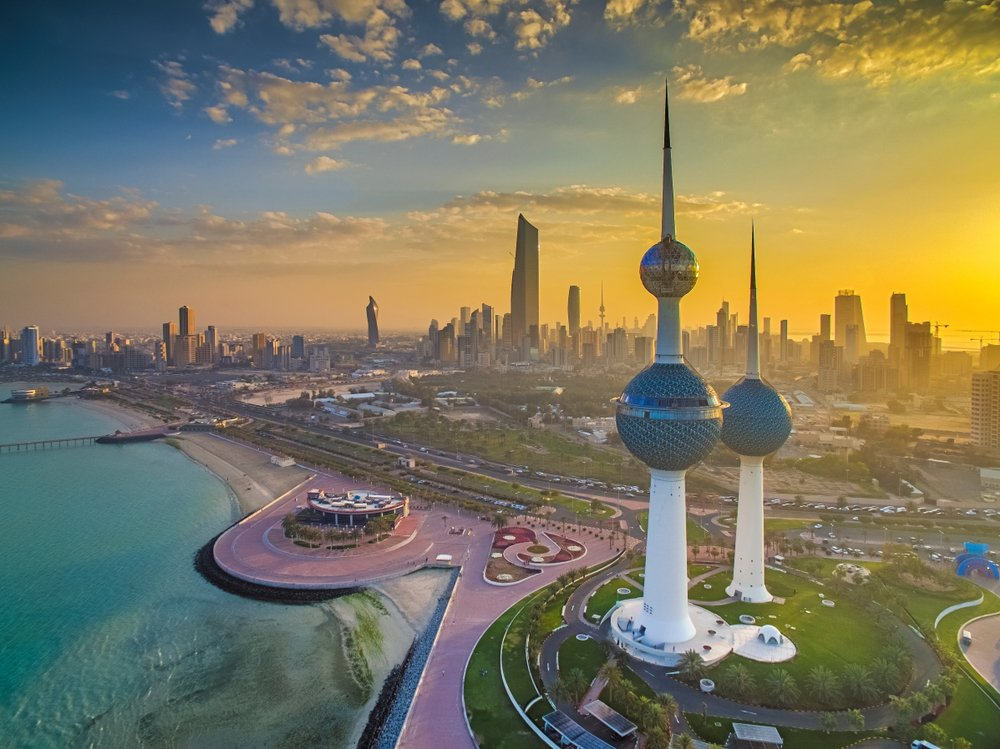 Beautiful Sunset in Kuwait City