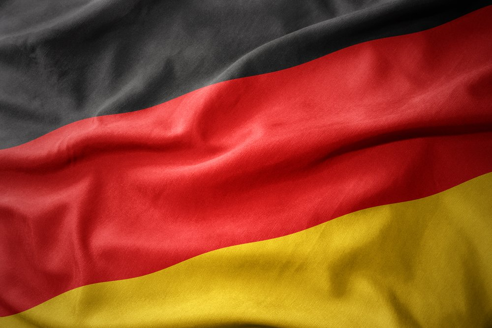 waving colorful national flag of germany
