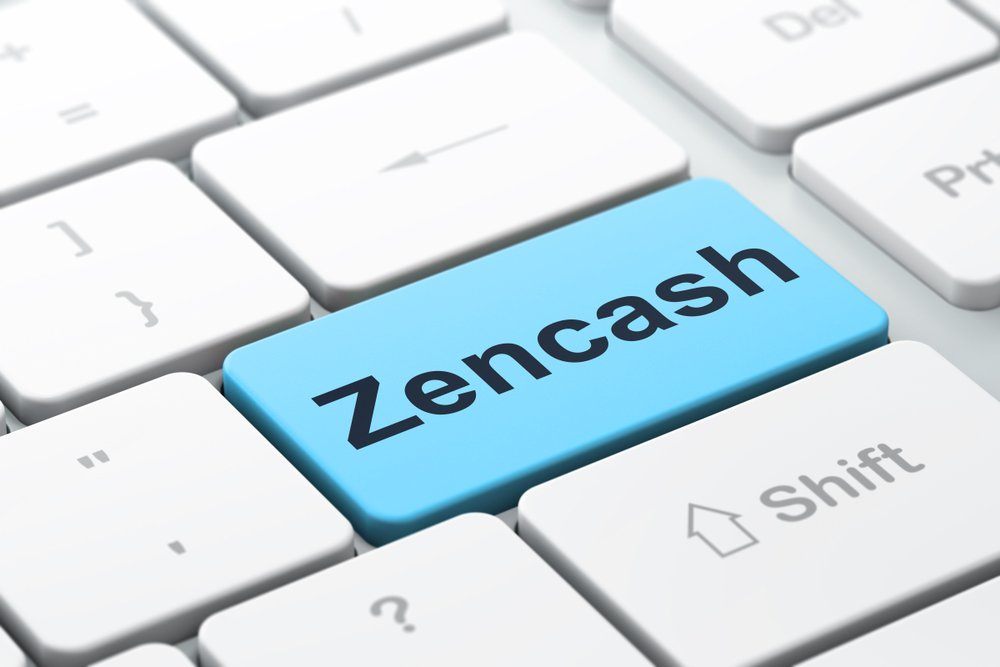 keyboard with word Zencash