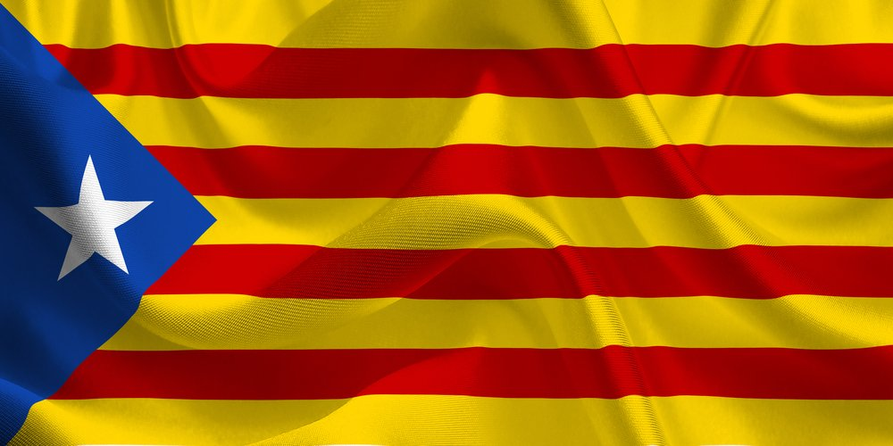 Catalan Flag in the Wind