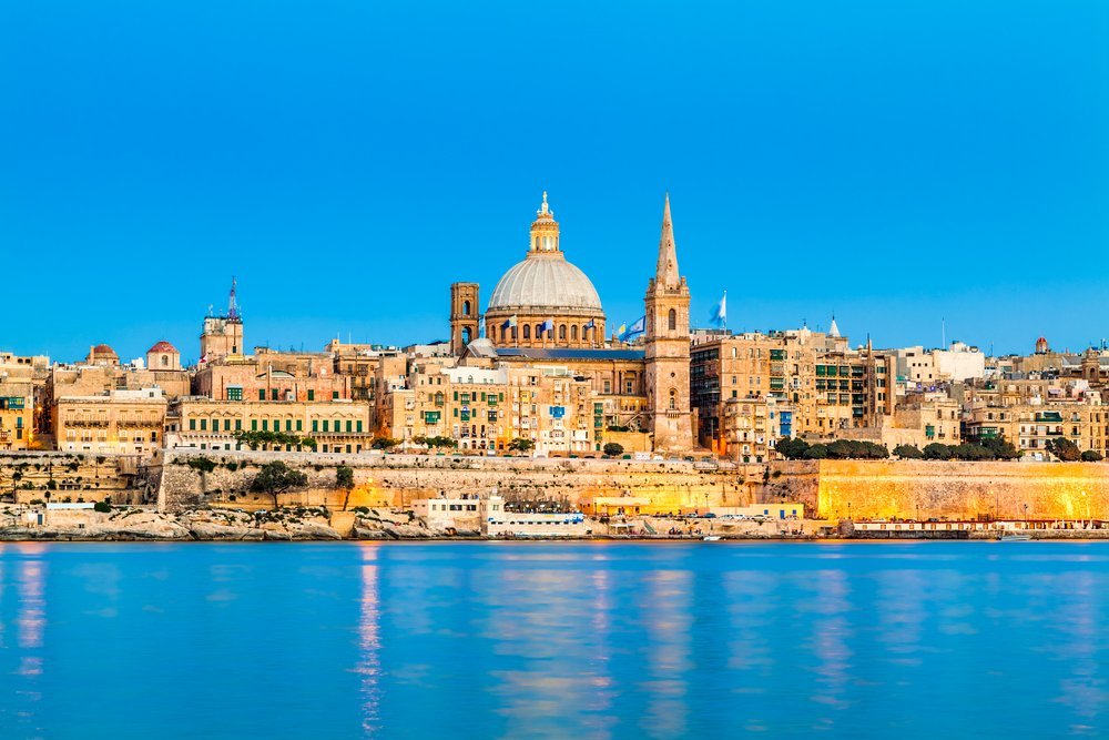 Valletta Skyline in the Evening