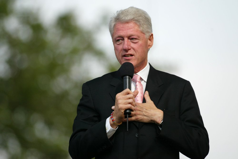 Former US President Bill Clinton speaking
