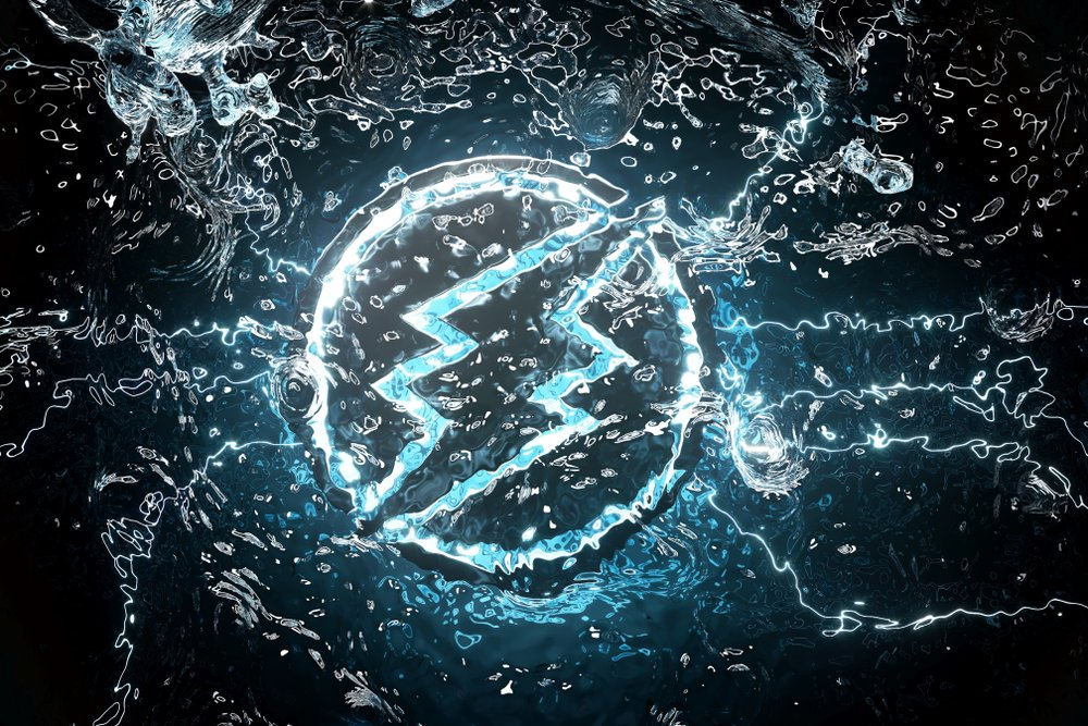 Electroneum Symbol Underwater in the Blue Light